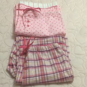 2 pajama pants, new without tag(large & medium)